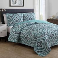 VCNY Home Allison Reversible Full/Queen Quilt Set in Grey