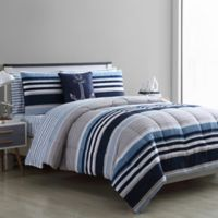 VCNY Home Cambridge King Comforter Set in White/Blue