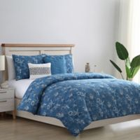 VCNY Home Coastal Reversible Queen Comforter Set in Blue