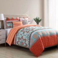 VCNY Home Ezra Reversible Twin XL Comforter Set in Orange