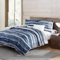 VCNY Home Bransen Reversible Twin Comforter Set in Navy/White
