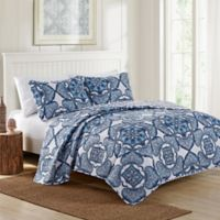 VCNY Home Bradshaw Reversible Full/Queen Quilt Set in Navy
