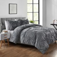VCNY Home Carmen Full/Queen Comforter Set in Grey