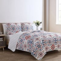 VCNY Home Venus Reversible Full/Queen Quilt Set in Cobalt