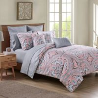 VCNY Home Janerisa King Comforter Set in Coral