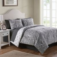 VCNY Home Lila Reversible Queen Comforter Set in Grey