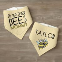 I'd Rather Bee With... Personalized Bandana Bib Set