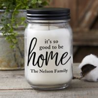 Personalized Good To Be Home Farmhouse Candle Jar