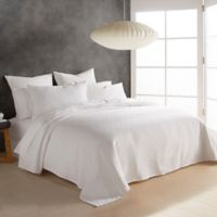 DKNY Stonewashed Matelasse Twin Coverlet in White
