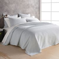 DKNY Stonewashed Matelasse Queen Coverlet in Lunar Rock