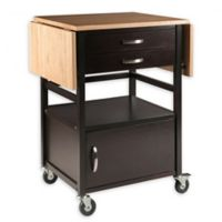 Winsome Trading Bellini Kitchen Cart in Natural/Coffee