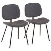 LumiSource Nunzio Dining Side Chairs in Grey (Set of 2)
