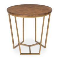 Kate and Laurel Solvay Accent Table in Walnut Brown