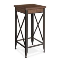 Kate and Laurel Doswell Accent Table in Rustic Brown