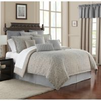 Waterford® Baylen King Duvet Cover Set in Dusty Blue