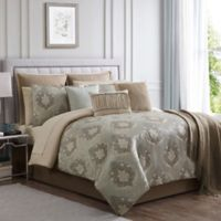 Serena Jacquard Weave California King Comforter Set in Grey