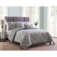MHF Home Eva Reversible Full/Queen Comforter Set in Grey