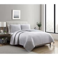 VCNY Home Dreamy Lux 3-Piece Queen Quilt Set in Grey