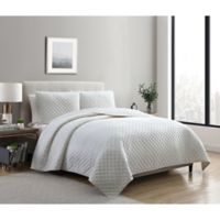 VCNY Home Dreamy Lux 2-Piece Twin Quilt Set in Ivory