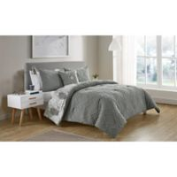 VCNY Home Lauanna Reversible King Comforter Set in Grey