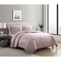 VCNY Home Dreamy Lux 3-Piece Queen Quilt Set in Rose
