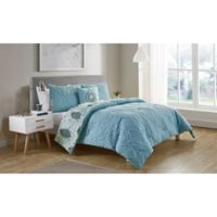 VCNY Home Lauanna Reversible King Comforter Set in Light Blue
