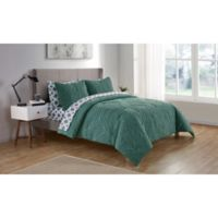 VCNY Home Chateau King Comforter Set in Aqua