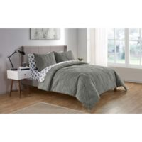 VCNY Home Chateau King Comforter Set in Grey