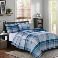 Griffin Plaid Twin/Twin XL Duvet Cover Set in Blue