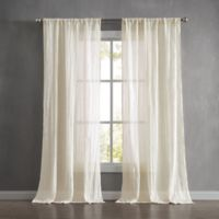 French Connection Charter Crushed 96-Inch Rod Pocket Window Curtain Panel Pair in Natural