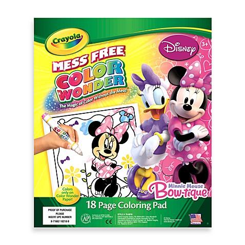 Crayola® Color Wonder Minnie-Mouse Coloring Pad - buybuy BABY