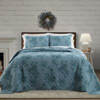 Bee & Willow™ Home Crystal Rose Reversible King Quilt in Seaglass