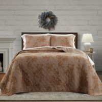 Bee & Willow™ Home Crystal Rose Reversible Twin Quilt in Khaki
