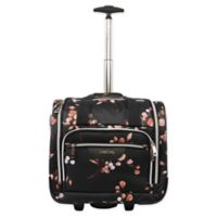 Bebe Valentina Valentina 16.5-inch Wheeled Underseat Luggage Floral Floral 15 8 5 Luggage (Carry-on)