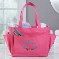 Floral Embroidered Shower Caddy