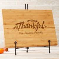 Cozy Home 14-Inch x 18-Inch Personalized Bamboo Cutting Board