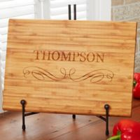Classic Kitchen 14-Inch x 18-Inch Personalized Bamboo Cutting Board
