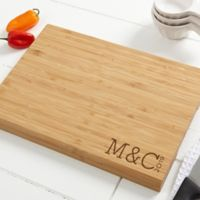 Family Name Established 14-Inch x 18-Inch Personalized Bamboo Cutting Board