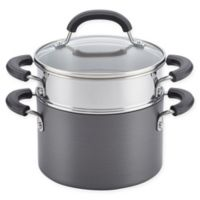 Circulon® Promotional Nonstick 3 qt. Covered Sauce Pot with Steamer Insert in Black
