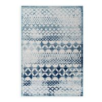 Modway Reflect Giada 8' x 10' Indoor/Outdoor Area Rug in Ivory/Blue