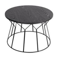 Elle Decor® Fleur Round Coffee Table in Black