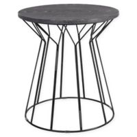 Elle Decor® Fleur Round Side Table in Black