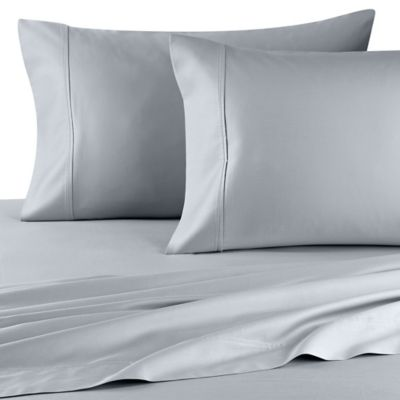 wamsutta 400 thread count dual california king sheet set in sky - Thread Count Sheets