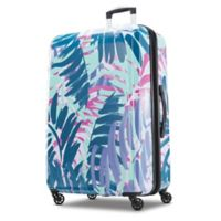 American Tourister® Moonlight 28-Inch Hardside Spinner Checked Luggage in Palm Trees