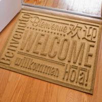 Weather Guard™ 23-Inch x 35-Inch Welcome Door Mat in Gold
