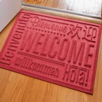 Weather Guard™ 23-Inch x 35-Inch Welcome Door Mat in Red