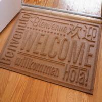 Weather Guard™ 23-Inch x 35-Inch Welcome Door Mat in Medium Brown