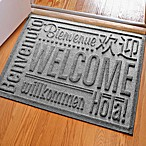 Weather Guard™ 23-Inch x 35-Inch Welcome Door Mat in Medium Grey