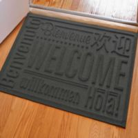 Weather Guard™ 23-Inch x 35-Inch Welcome Door Mat in Charcoal