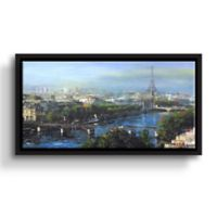 Art Wall Paris Pedestrian Bridge 24-Inch x 36-Inch Framed Wall Art